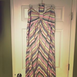 Multi-colored Striped Maxi Dress 3x